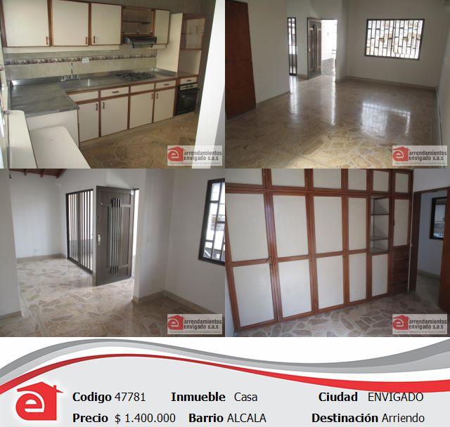 Casa, Envigado, Alcalá. Cerca a la una iglesia y con excelentes vías de acceso. Conócelo en http://www.arrendamientosenvigadosa.com.co  comunícate a nuestro PBX 444 68 68 o pregúntanos por este medio.