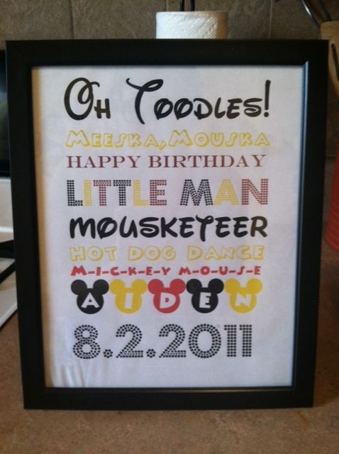 I made something almost exactly like this for Channing's 2nd birthday party!!!