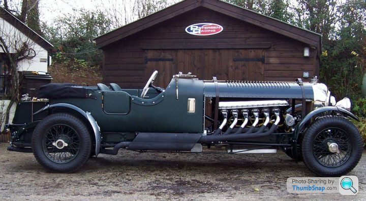 1930 Bentley Meteor with a Rolls-Royce 27-ltre Meteor Engine. Which, to be Technically Correct, isn't from a Spitfire, the Meteor was the Un-Supercharged Version and was used in Tanks