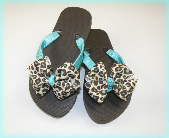Snazzy Cheetah  Flip Flops Wedding Flip by Tammiestephensdesign, $18.00