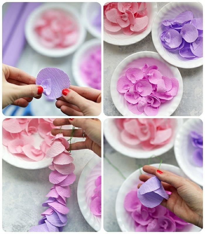 1001 Tolle Ideen Zum Thema Basteln Mit Krepppapier Krepppapier Rosen Aus Papier Weihnachtliche Tischdeko Basteln