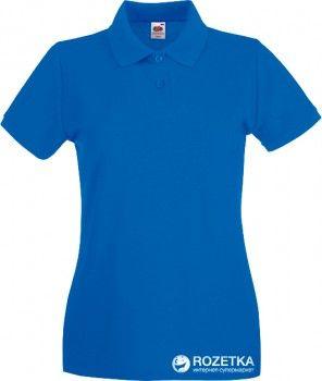 Поло Fruit of the loom Премиум Lady-Fit 063030051 XS Ярко-синее (5000000001538)