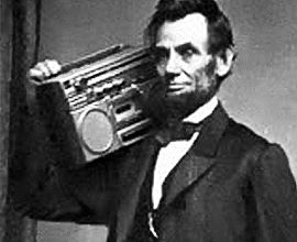 The only mistake Lincoln made in his presidency was to dismiss Spotify as a fad - Tom Renquist http://www.globalmuseum.org #museum #captioncontest #globalmuseum #humor #humour