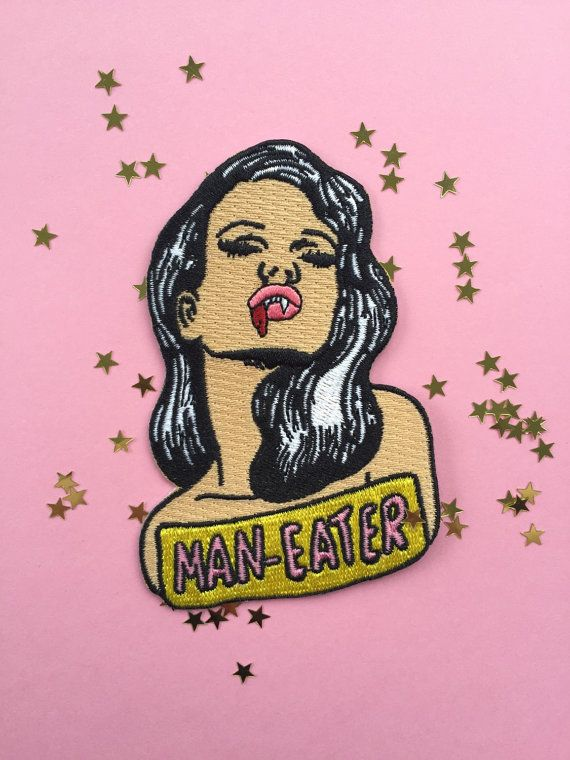 Man eater iron on patch 3.5 by youwereswell on Etsy
