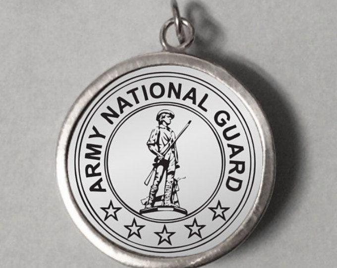 National Guard Pendant, Engraved Pendant, Pendant Engraved, US National Guard, Army Insignia, United States Army, National Guard, Insignia