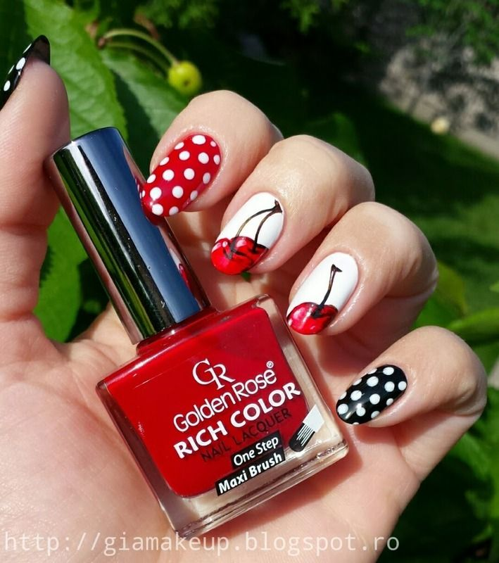 Nailpolis Museum of Nail Art | Cherries by Tanase Georgia - Best 25+ Cherry Nail Art Ideas On Pinterest Cherry Nails, Dot