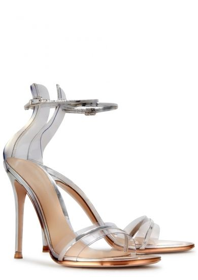 b896fb4f10e Gianvito Rossi Plexi 105 leather and Perspex sandals