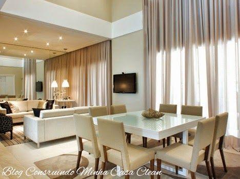 Construindo Minha Casa Clean: Salas de Jantar Decoradas com Mesas Brancas!!! Veja