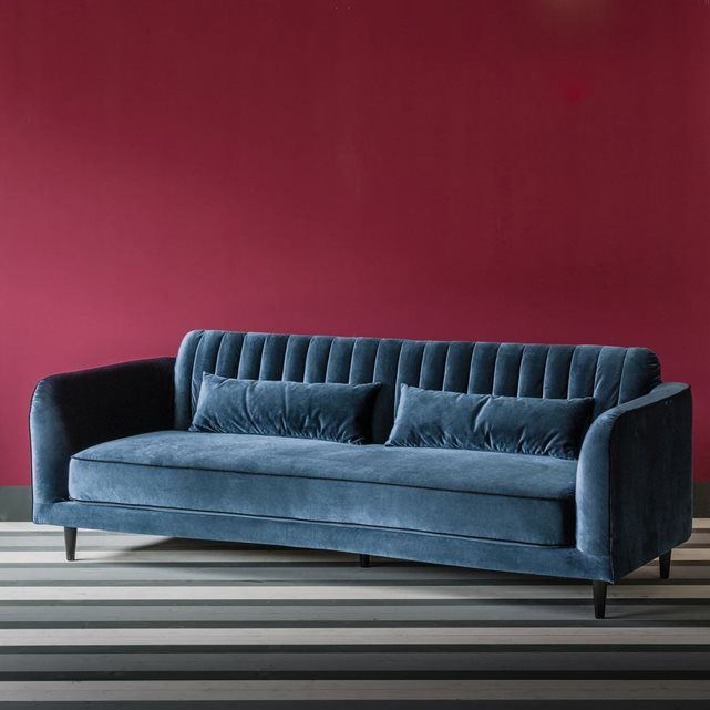 25 Best Ideas About Canap De Velours Bleu Sur Pinterest Canap En Velours Bleu Sofa En