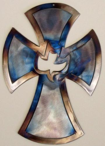 Metal Art Christian Cross Wall Decor Christian Theme Dove Cross by metalcutoutbyvirgil for $17.50