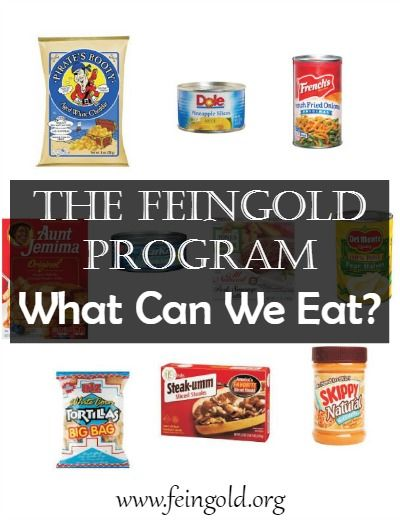 A few small changes in your shopping cart can eliminate learning, behavioral, & health problems (including ADHD). www.feingold.org