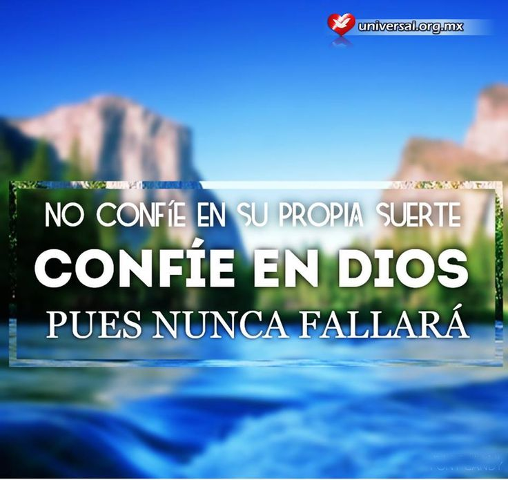 No confíes en tu suerte. Si #Dios está contigo no la necesitas. ¿Amén? Síguenos por nuestras redes sociales: http://www.universal.org.mx https://www.facebook.com/IglesiaUniversalMexico/ http://www.twitter.com/UnivMx http://www.instagram.com/UniversalMexico