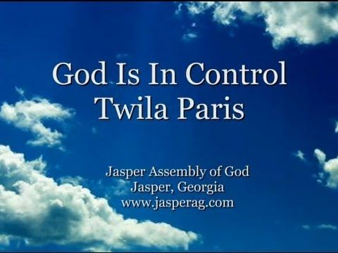 God Is In Control - Twila Paris   No matter what you face. No matter what pain you are in.  There is Hope.  You may not be able to see it, but God is still on the throne.  He is in control. Amen. ~AW~