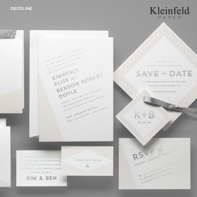 107 best Simple Modern Wedding Invitations images on Pinterest