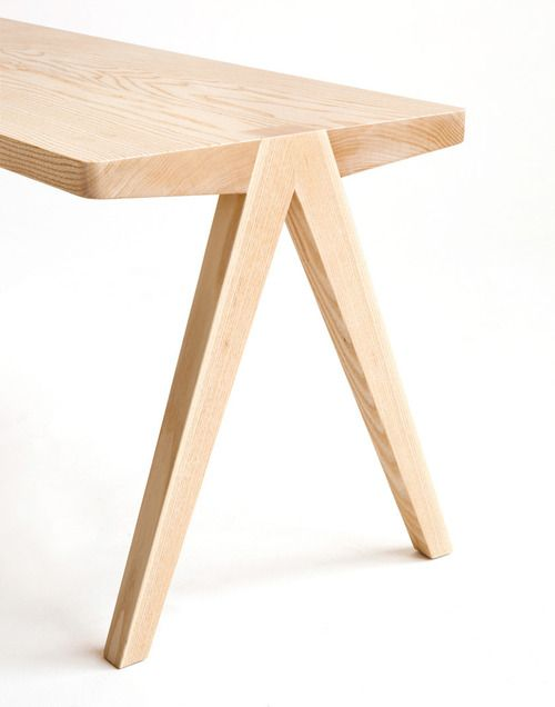 Trestle legs: Design Things, Design Milk, Tables Legs, Furniture Inspiration, Trestle Legs, Legs Design, Moving Mountain, Furniture Design, Home Furnishings