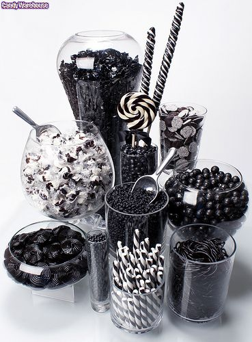 Black and white candy