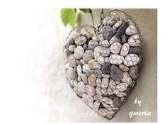 coeur, décoration, décoration murale, DIY, fil de fer, galets, grillage à poule