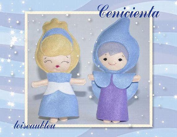 Kopciuszek i Wróżka Chrzestna, Baśń, bajeczne lalki, księżniczki, lalki edukacyjne, Disney lalki, pluszowe lalki, zaczarowane, czarodziejki