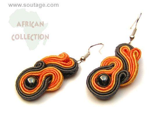 Fereball earrings by Sutasz-Anka