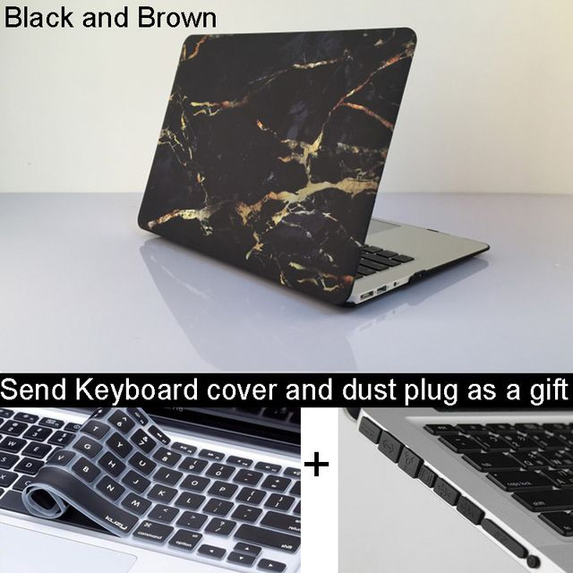 NEW Marble Texture Case For Apple macbook Air Pro Retina 11 12 13 15 laptop bag For Mac book 13.3 inch