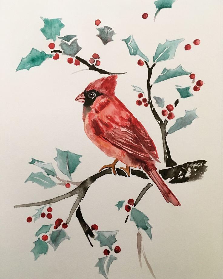 #bird #cardinals #red #redbird #holly #hollytree #chineseink #chineseinkpainting #painting #cristmas #card #tree #bush #hollyberry #hallyberrys #birdintree #robin #lyn #robinlyn #bradfield #actio #art #studio #actioartstudio #robinlyn