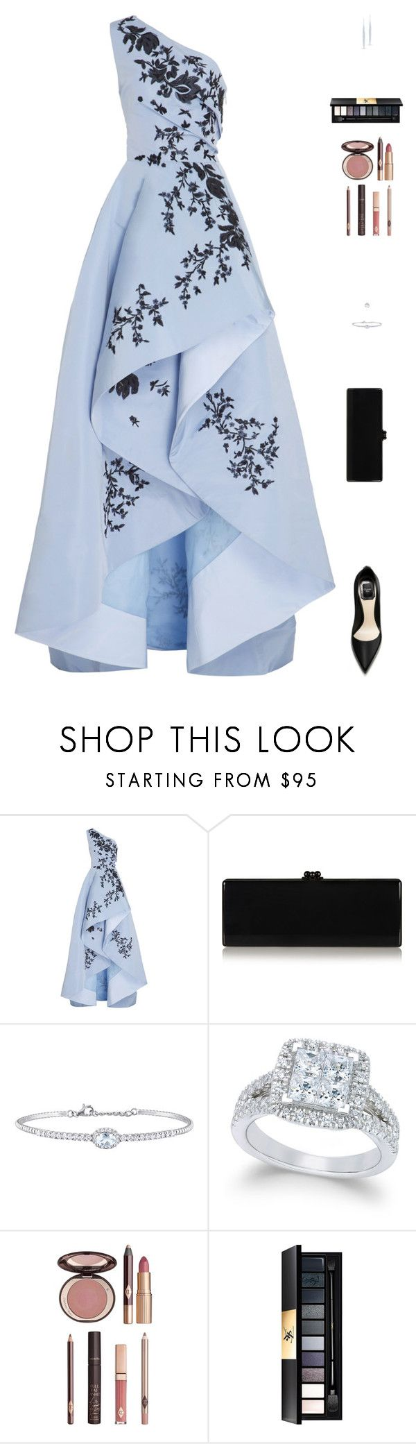 """Sin título #4865"" by mdmsb on Polyvore featuring moda, Monique Lhuillier, Edie Parker, Rina Limor, Charlotte Tilbury y Yves Saint Laurent"