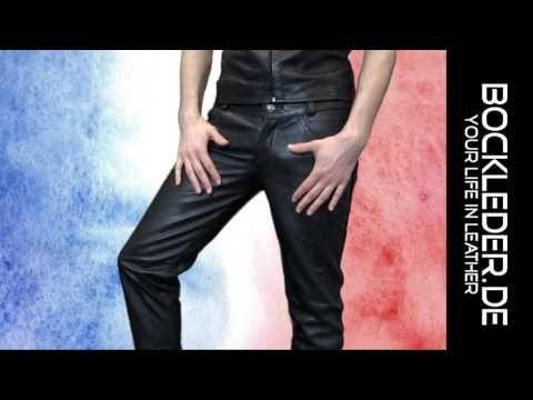 jeune homme dans un pantalon en cuir BOCKLEDER.DE Veste en cuir sexy - YouTube