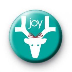 Reindeer Joy Badge Christmas Badges button badges