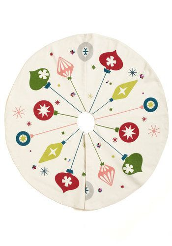 Christmas tree skirt - Ornaments, mid century modern design  http://www.modcloth.com/shop/decorative-accessories/ornament-for-you-tree-skirt?utm_source=pinterest&utm_medium=share&utm_campaign=pdp_share