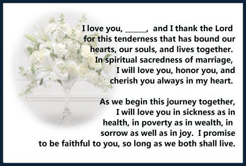 Christian Interracial Vow Wedding