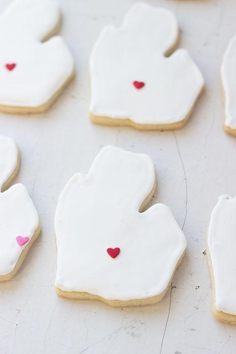 Cut out Michigan sugar cookies! #lovelansing #themitten #mittenstate