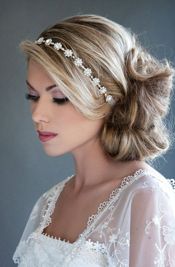 35 Wedding Hairstyles Discover Next Year S Top Trends For: 17 Best Ideas About Rhinestone Headband On Pinterest