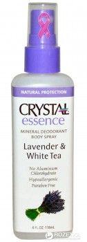 Дезодорант-спрей для тела Crystal натуральный с экстрактами лаванды и белого чая 118 мл (86449252910)