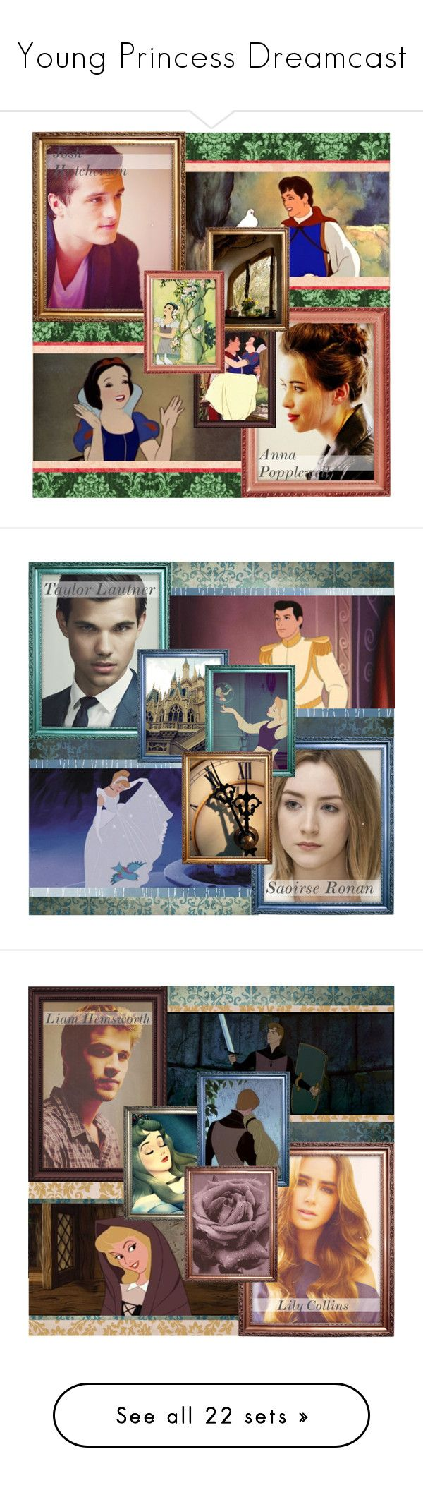 """Young Princess Dreamcast"" by shaeli ❤ liked on Polyvore featuring art, ferdinand, dreamcast, snow white, josh hutcherson, anna popplewell, saoirse ronan, taylor lautner, cinderella and prince charming"