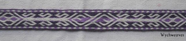 Wychweaves - Birka 21, woven in twill. Pattern slightly modified for the usual reasons