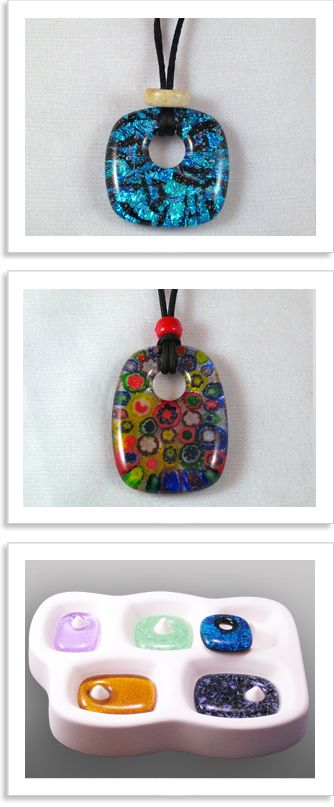Reusable Molds for Glass Casting. Pillow pendant molds