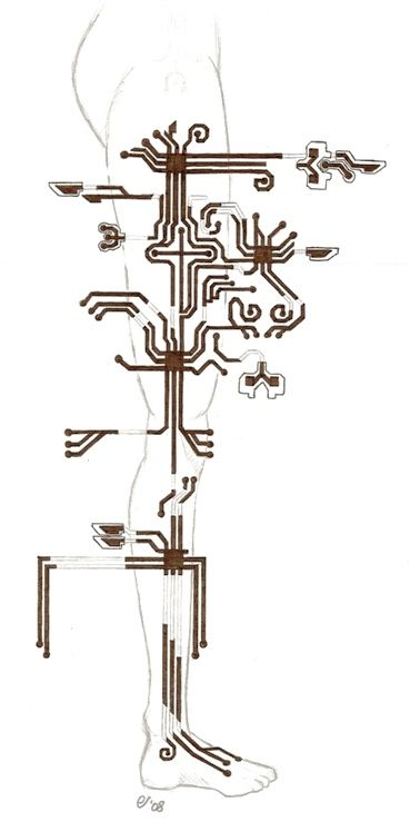 Circuit tattoo by lushind on DeviantArt