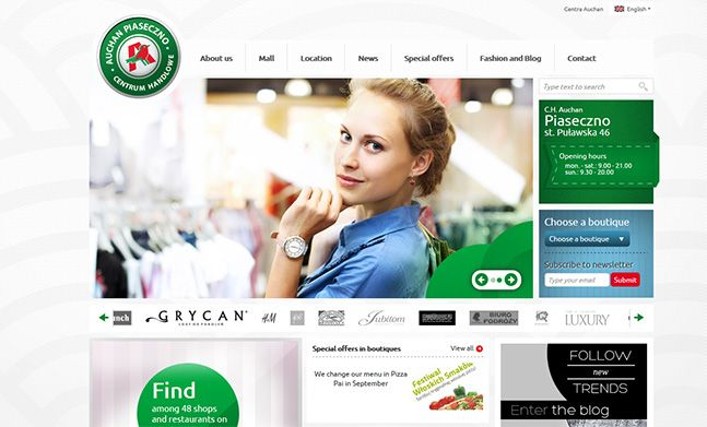 Auchan - Shopping Center website