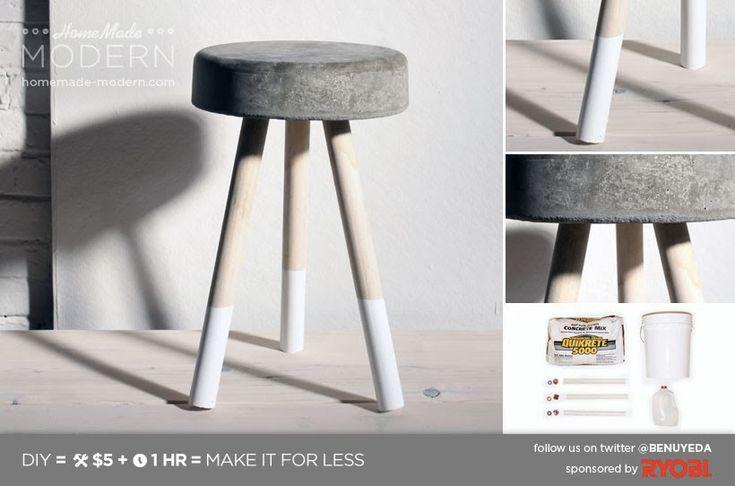 Concrete stool. Super simple to build.