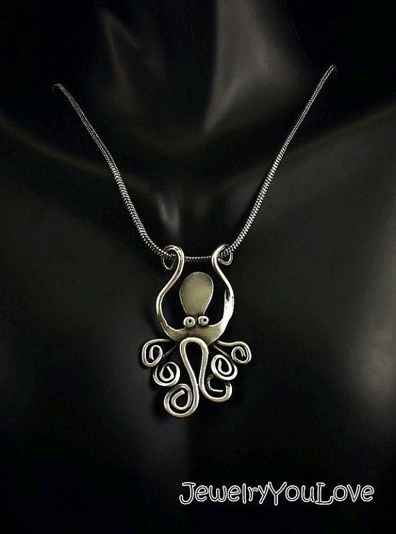 Sterling Silver Octopus Necklace  Cleopatra by JYLbyPeekaliu, $74.95