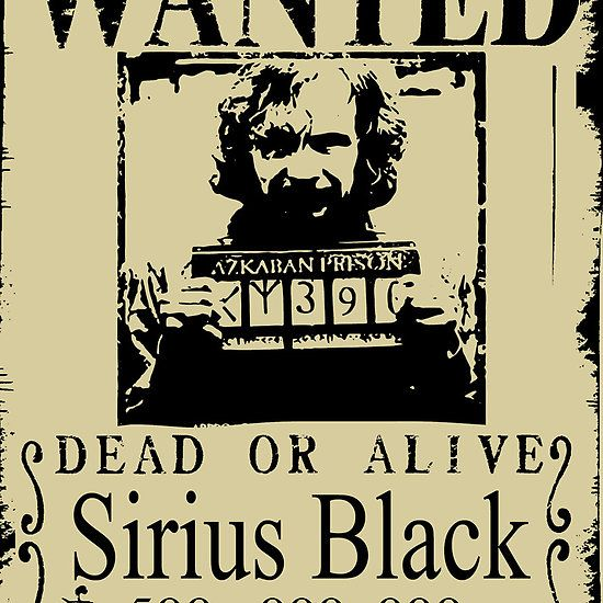 Sirius Black Wanted Poster | T-Shirts, Posters, IPhone and IPad Cases ...
