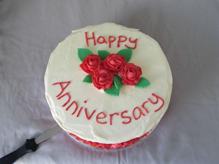 Red Velvet cake with buttercream roses