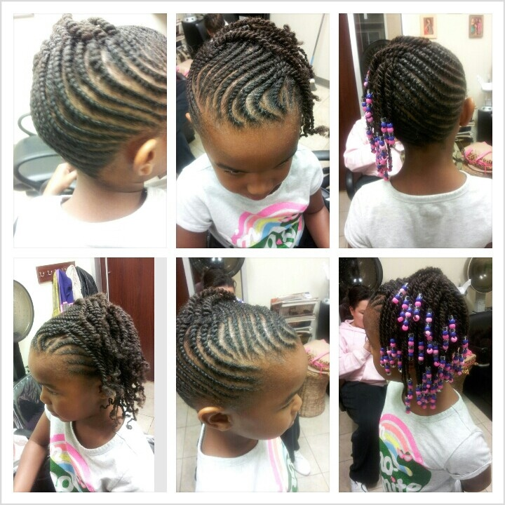 little girl two strand twist natural hair