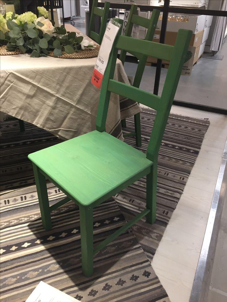 Eetkamer stoel Ivar, groen gebeitst - IKEA