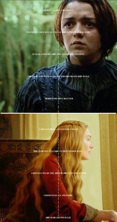 Arya Stark/Cersei Lannister - Game of Thrones