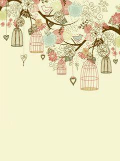 vintage desktop wallpaper designs | Wallpapers for cellphone Birdcage