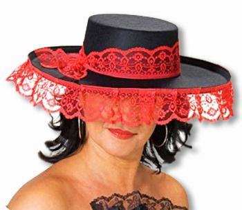 Senorita Hut schwarz rot - Verwandle dich in eine veführerische Spanierin! #kostum #costume