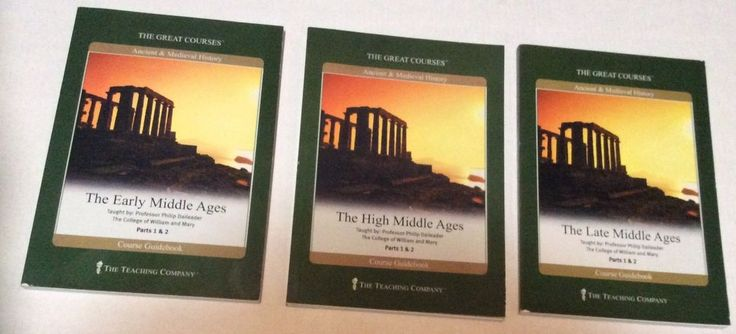 3 Great Courses Early, Late and High Middle Ages - Books Only Teaching Company  | eBay