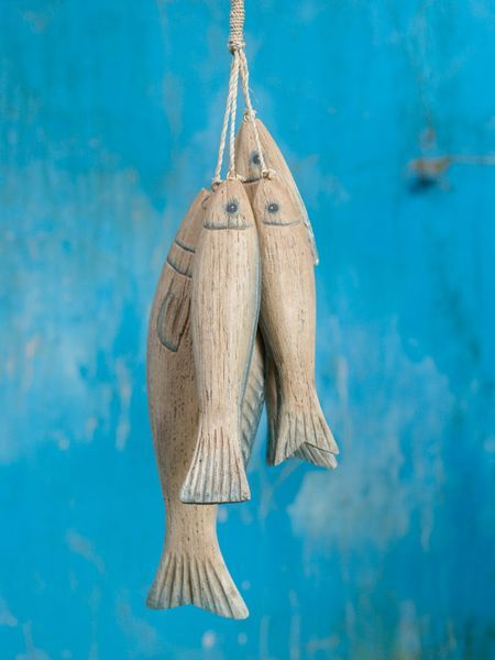 wooden fish | Hanging Wooden Fish - Nordic House
