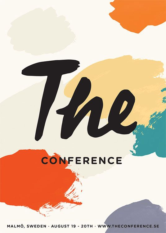 Branding for Malmö based creative event The Conference